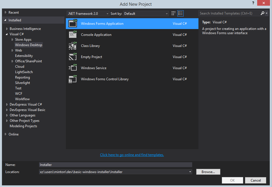 new-dialog-installer